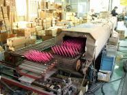 スクリーン(シルク)印刷/印刷乾燥炉出口付近写真