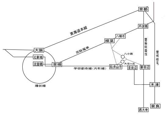 電車・バス地図